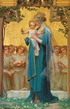 Vidal's Madonna and Child, Enric Monserday Vidal est un peintre espagnol. Religious Images, Religious Icons, Religious Art, Divine Mother, Blessed Mother Mary, Queen Mother, Virgin Mary, Mama Mary, Queen Of Heaven
