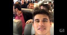 Jogador Filipe Machado fez vídeo no voo da Chapecoense antes da queda