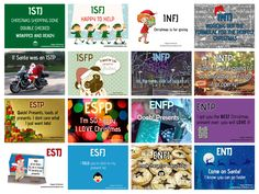 """Myers Briggs - What type of Christmas person are you? Of course, I'm stuck thinking Christmas is for giving (but I don't actually like the holiday) I'd rather be """"I'm so happy. I love Christmas"""" :("""