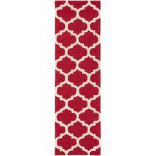 Pollack Red Geometric Stella Area Rug