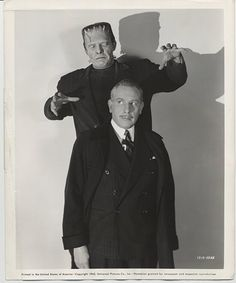 Lon Chaney Jr. and Cedric Hardwicke in The Ghost of Frankenstein (1942)
