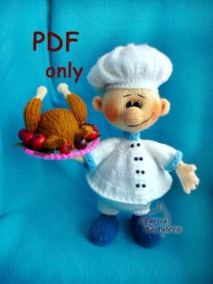 Cook knitting amigurumi PDF pattern by jasminetoys on Etsy