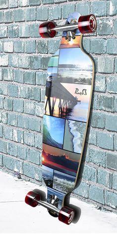 "Punked SeaSide Drop Through 40"" Longboard Complete"