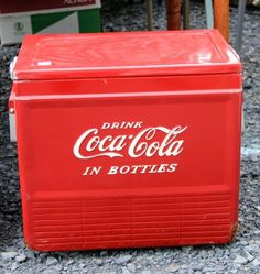 June 2014 FOUND FLEA - Vintage Coke Cooler