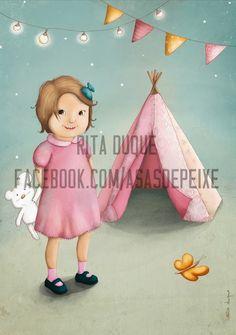 Asas de peixe: Ilustração personalizada - Princesa L.