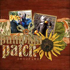 pumpkin patch scrapbook idea