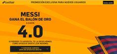 el forero jrvm y todos los bonos de deportes: betfair supercuota 4 Messi gana Balon Oro 11 enero...