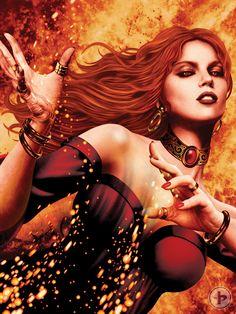 Melisandre. Artwork by John Picacio.