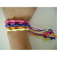 MARLY THIBES BLOGGER: ( FAZENDO ARTE E CUSTOMIZANDO ): pulseiras terço en formato de nós......CHAKIRA