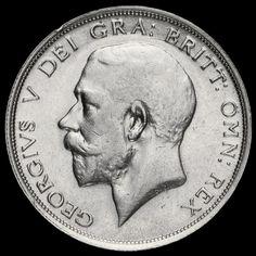 1914 George V Silver Half Crown, Scarce, VF / GVF