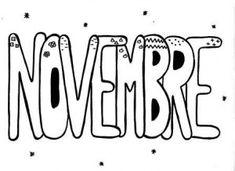 Graphisme décoratif sur les mois