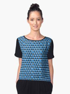 Funky Geometric Pattern Chiffon Tops #RedBubble #Shopping #Woman #Clothing #Gift #GiftIdea #Art #Design