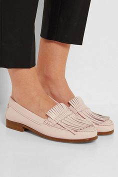 Blush leather Slip on Designer color: Rosa Chiaro Made in Italy