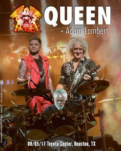 Unofficial poster for Houston @QueenWillRock + @adamlambert .2017
