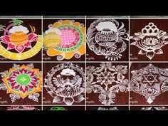 2019 sankranthi special rangoli collections by Dheepiika * pongal kolam collections Rangoli Kolam Designs, Simple Rangoli, Special Rangoli, Bridal Blouse Designs, Collections, Artist, Youtube, Artists, Youtubers
