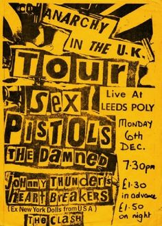Sex Pistols Anarchy in the UK tour poster