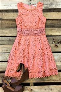 Boutique, Dresses, Champion Of Love Lace Dress - Orange