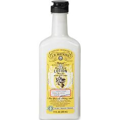 J.R. Watkins Naturals Hand & Body Lotion in Lemon Cream.  99% natural.  I swear, I put this on my hands at work and I want to eat them. Totally smells like lemon cake.