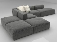Modular / Sectional sofas Mauro Lipparini models created by Design Connected My Living Room, Living Room Interior, B&b Italia Sofa, Design Connected, Sofa Furniture, Furniture Design, Interior Design Presentation, Modular Sectional Sofa, Sofas For Small Spaces