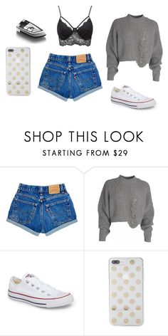 """Bez tytułu #141"" by maryb96 on Polyvore featuring moda, Converse, Kate Spade i Charlotte Russe"