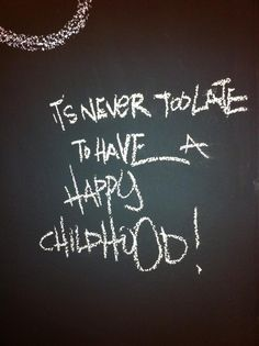 keep calm and be a child