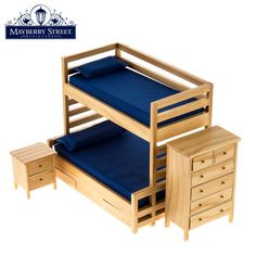 Scale Bunk Bed Double Bunk Furniture for Dolls House Bedroom Decor. 1 Set Bunk Bed with Stairs. - Suitable for miniature dollhouse; Great decoration for your doll house,creating a colorful life scenes; Best for doll house, room box, house model. Wood Pallet Furniture, Woodworking Furniture, Furniture Plans, Online Furniture, Bedroom Furniture, Furniture Design, Woodworking Projects, Bunk Bed Sets, Diy Barbie Furniture
