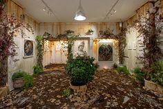 pixelpancho turns rome's galleria varsi into a forgotten mythological landscape