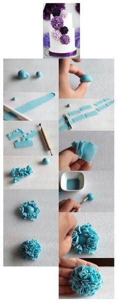 How to: Fondant pom-poms