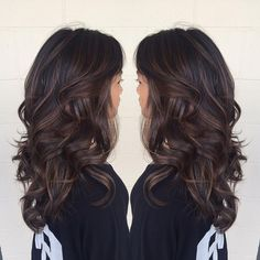 60 Chocolate Brown Hair Color Ideas for Brunettes Long Chocolate Balayage Hair Brown Hair Balayage, Brown Ombre Hair, Brown Blonde Hair, Brown Hair With Highlights, Ombre Hair Color, Hair Color For Black Hair, Brown Hair Colors, Hair Colours, Subtle Balayage