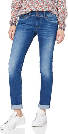 Einwandfreie Verarbeitung und dunkle Waschung  Bekleidung, Damen, Jeanshosen Smart Casual Jeans, Pepe Jeans, Jeans Store, Trousers, Pants, Stretch Denim, Outfit, Cotton, Blue