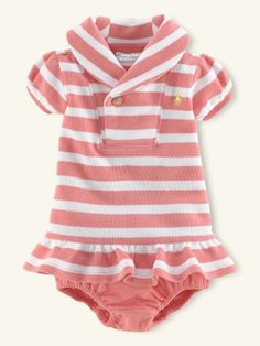 Terry Shawl-Collar Dress - Layette Dresses & Rompers - RalphLauren.com