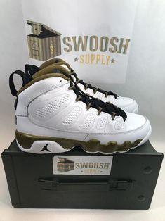 5098c7ed5f4084 Nike Air Jordan 9 Retro BG Statue White Militia Green 302359-109 Youth Size  6Y