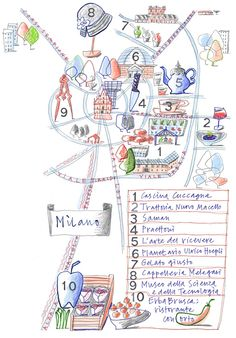 Giulia Binfield - Map of Milan for La Repubblica