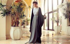 Roselle, Dubai  Gorgeous Grey abaya