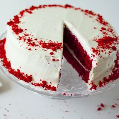 Stop looking for the perfect red velvet cake recipe... this is it! Perfectly red, never brown, every time!
