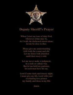 Deputy Sheriff Prayer