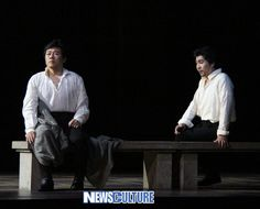 From Verdi's Don Carlo: Carlo in prison, visited by Rodrigo. Tenor Na Seungseo and baritone Paul Kong.