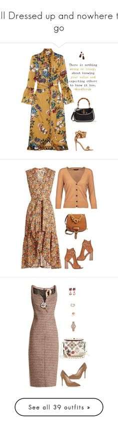 """""""All Dressed up and nowhere to go"""" by stacy-just-stacy ❤ liked on Polyvore featuring Erdem, Gianvito Rossi, Gucci, Kendra Scott, Rebecca Taylor, Miu Miu, Isabel Marant, Chloé, N°21 and Alexander McQueen"""