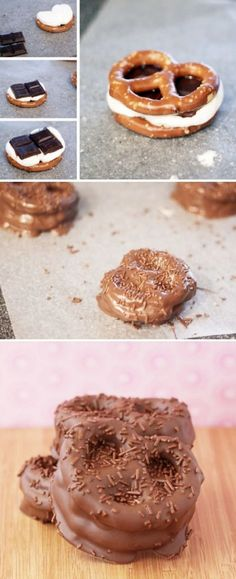 Pretzel S'mores - this might actually get me join the human race with liking s 'mores ♡
