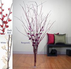 Green Floral Crafts Dried 4-5'' Red Dogwood and Red Sword Lilies (Vase Not Included) * See this great product.