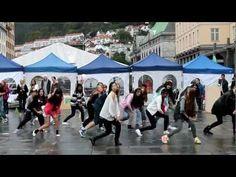 Gangnam style flashmob (in bergen norway)