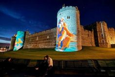 Olympic rowers projected on Windsor Castle, NBC will have the details in a week.