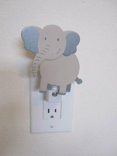 Elephant Night Light  Baby room nursery animal by cvhdesigns1
