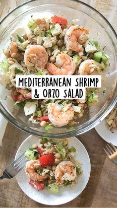 Shrimp And Spinach Recipes, Seafood Recipes, Cooking Recipes, Seafood Pasta, Cucumber Recipes, Shrimp Pasta, Healthy Shrimp Recipes, Shrimp Salads, Shrimp Salad Recipes