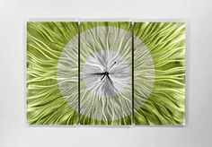 Modern Abstract Metal Wall Clock Sculpture / Go by statements2000, $295.00