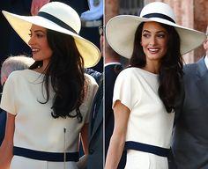 Amal Alamuddin's soft, sleek wedding hair: Get the look