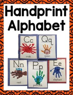 Create your own handprint alphabet classroom chart and student book are included. For the handprint alphabet chart, you can display it as your classroom alphabet. Included are the templates for letters and words for students to put handprints on. Toddler Learning Activities, Preschool Lessons, Alphabet Activities, Daycare Crafts, Preschool Crafts, Preschool Phonics, Kindergarten Classroom, Preschool Ideas, Alphabet Letter Crafts