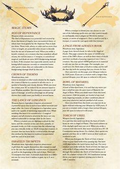 Angel Compendium Items by StriderT
