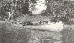 Tom Thomson in his canoe.