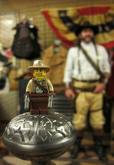 LEGO Collectible Minifigures Series 1 : Cowboy Cane by Artist Intentions Model by Steampunked Out Backdrop by Last Wear